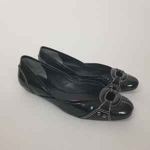Cole Haan Black Patent Leather Ballet Flats